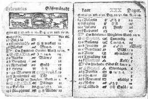 Calendar Swedish